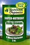 Mixed Baby Greens Seed Pack 3 oz.
